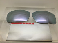 Authentic Prada Sport SPS 02Q Grey w/ Silver Mirror Replacement Lenses