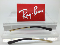 Authentic Rayban RB 3387  Gold  Replacement Temples w/ Brown Tips