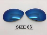 Custom Rayban RB 3386 & 3293 SIZE 63 Blue Mirror Polarized Lens Pair