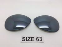 Custom Rayban RB 3386 & 3293 SIZE 63 Silver Mirror Polarized Lens Pair