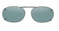 FOR J. RUSSEL DAVIS Clip-On Size Rec 15-54 Gunmetal Green
