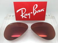 Authentic Rayban 3025 Aviator Copper / Red Mirror Coating Lenses SIZE 58