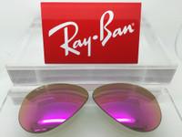 Authentic Rayban 3025 Aviator  Cyclamen Flash / Pink Mirror Polarized Lenses SIZE 58