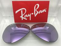 Authentic Rayban 3025 Aviator Lilac / Light Purple  Mirror Coating Lenses SIZE 58