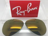 Authentic Rayban 3025 Aviator Dark Gold Mirror Coating Lenses SIZE 58
