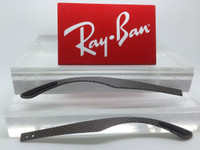 Authentic Rayban RB RX 8412 Grey Carbon Fiber Replacement Temples NEW! Genuine