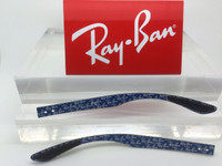 Authentic Rayban RB 8316 Carbon Fiber W/ Blue Logos Replacement Temples Length