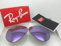 Authentic Rayban 3025 Aviator Lilac / Light Purple Mirror Polarized Lenses SIZE 58