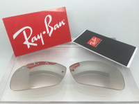 Authentic RayBan RB 3183 Light Brown Gradient w/ Silver Mirror Gradient Lenses