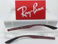 Authentic Rayban RB 8901 Carbon Fiber W/ RED Logos Replacement Temples Length