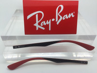 Authentic Rayban RB RX 8411 Red & Carbon Fiber Replacement Temples NEW! Genuine