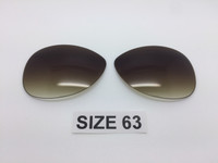 Custom Rayban RB 3386 & 3293 SIZE 63 Brown Gradient Non Polarized Lens Pair