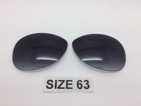 Custom Rayban RB 3386 & 3293 SIZE 63 Grey Gradient Non Polarized Lens Pair