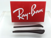 Authentic Rayban Ear Socks / Temple Tips for RB 3422,3025,3026, 3029, 3044 or 3174  Aviator DARK BROWN LEATHER