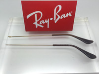 Authentic Rayban 3025 Aviator Gold Replacement Temples Length 140 w/ Brown Tips