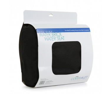 Water Brick Water Seat offers a great alternative to the hard surface seat of the spa.