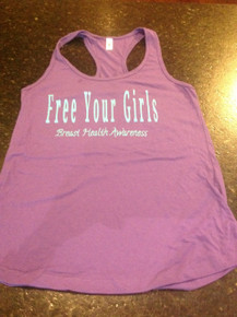 "Purple Tank Top ""Free Your Girls"""