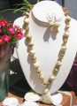 Magnesite Necklace & Earring NS120