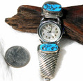 Sterling Silver Turquoise Watch