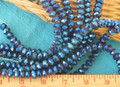 Blue Faceted Crystal Rondelle Strands CR110