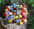 Fun Bracelet, Red, Yellow & Blue Wrap a Round Bracelet