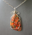 Orange Sea Sediment Jasper Pendant