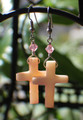 Shell Cross Earrings