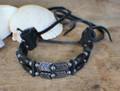 Native Choker w/ Black Horn & Hematite