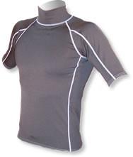 Men's Short Sleeve Polypro Rashguard - Black (B26)