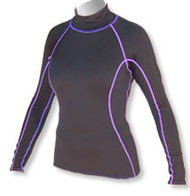 Women's Long Sleeve Polypro Rashguard - Black (B39)