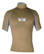Men's Short Sleeve Lycra Rashguard - Olive/Sapphire (D67)