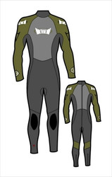 Kid's 4/3mm Fullsuit - Olive (F13)