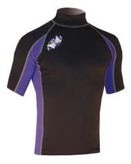 Men's Short Sleeve Lycra Rashguard - Black/Navy (G30)