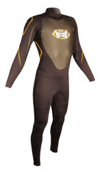 Men's 4/3mm Charger Fullsuit - Black/Orange (H38)
