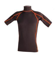Men's Short Sleeve Polar Fuzz Top - Black (J09)