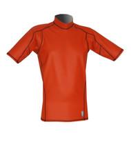 Men's Short Sleeve EXO Skin Stretch Top - Orange (J54)