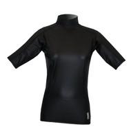 Women's Short Sleeve EXO Skin Stretch Top - Black (J63)