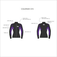 Women's 2mm Charger Jacket - Grey/Purple (K72)