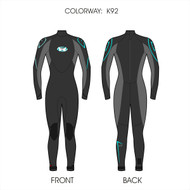 Women's 4/3mm Charger Fullsuit - Grey (K92)