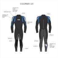 Men's 5/3 Storm Fullsuit - Blue (L01)
