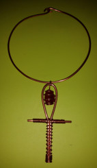Copper LoveAnkh with Crystal (Choker)