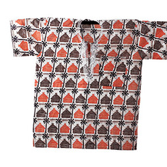 Village African Dashiki (Unisex) White & Orange