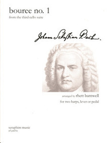 Bouree No. 1 - J. S. Bach, Harp Duo, arr. Rhett Barnwell