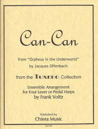 "Can-Can from ""Orpheus in the Underworld"" (for four lever or pedal harps) by Frank Voltz"