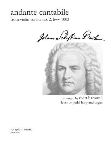 Andante Cantabile, J. S. Bach, arr. Barnwell, Harp and Organ