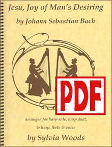 PDF Jesu, Joy of Man's Desiring by Bach / Sylvia Woods