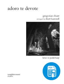 Adoro te Devote, Gregorian Chant, arr. Barnwell PDF