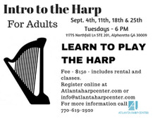 Intro to the Harp - Adult Beginner Class