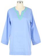 Carolina Blue embroidered tunic