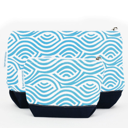 Kensington Aqua Cosmetic Bag set